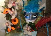 Composition florale carnavalesque