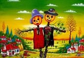 Epouvantails d'hallowen