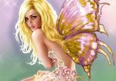 papillon dans la lumiere