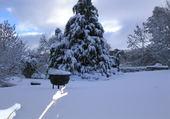 La neige à Menet