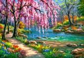 Puzzle forêt enchantée et colorée