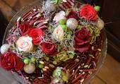 Belle présentation de fleurs