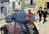 Tintin et la 2cv