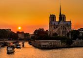Puzzle Coucher de soleil sur Paris
