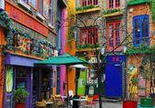 Puzzle belle maisons et de couleurs