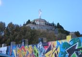 Cristo del Otero  et graffitis