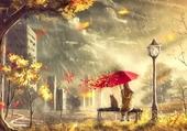 Jour d'automne pluvieux