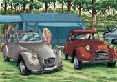 La 2CV en camping