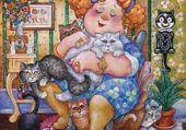 Puzzle Madame et ses chats