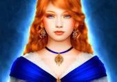 rousse aux yeux bleu