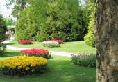 Jardin public au bord du Léman