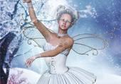 danseuse sous la neige