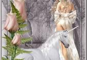 licorne blanche