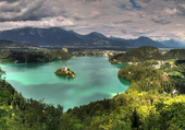 Puzzle Le lac de Bled-Nuageux