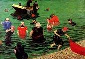 baignade à Etretat