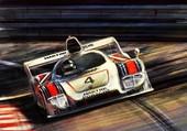 La Porsche de Ikx gagnant les 24 Hures
