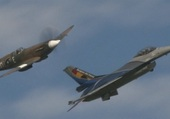F16 and Spitfire / Belgian Air Force