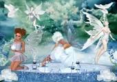 Puzzle elfes papillons et colombes