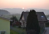 Coucher de soleil à Oron