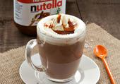 chocolat chaud nutella et caramel