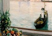 Fenêtre sur le vieux port de marseille
