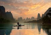 Puzzle Pêche dans une rivière en Chine
