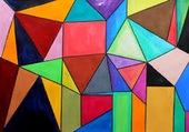 Puzzle tableau coloré
