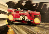 Ferrari en tableau