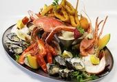 Un beau plateau de fruits de mer
