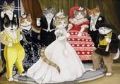 mariage félins