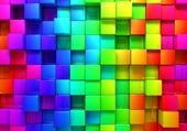 Puzzle Cubes coloriés