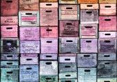 Mur en boîtes déco
