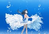 Fille sous l'eau