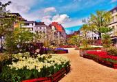 parc en fleurs