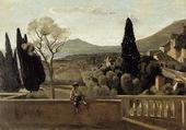Vue de Tivoli d'après Corot