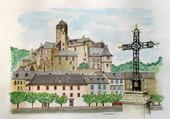 le château d'Estaing - Aveyron -