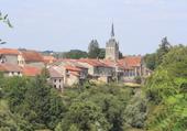 Le village de Châtillon sur Saône