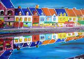 rangée de maisons colorées