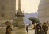 La rue Auber sous la pluie, Dennery 1889