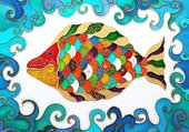 poisson en mosaïque