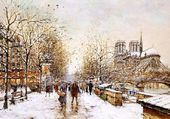 ND et quais de Seine en hiver