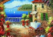 Puzzle terrasse sur mer