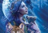 Femme aux loups
