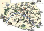 Puzzle PLAN DE PARIS AVEC MONUMENTS
