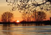 lever de soleil sur la Dordogne