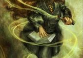 Fan art d'hermione lançant un sort
