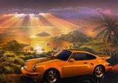 Puzzle Porsche on sunset