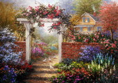 Puzzle joli jardin