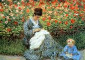 Madame Monet et un enfant