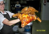 cochon de lait grillé au Portugal